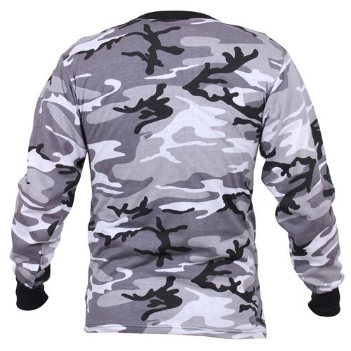 Mens Long Sleeve Camo T-Shirt