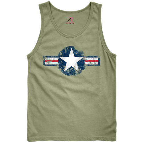 Mens Vintage Air Corps Tank Top