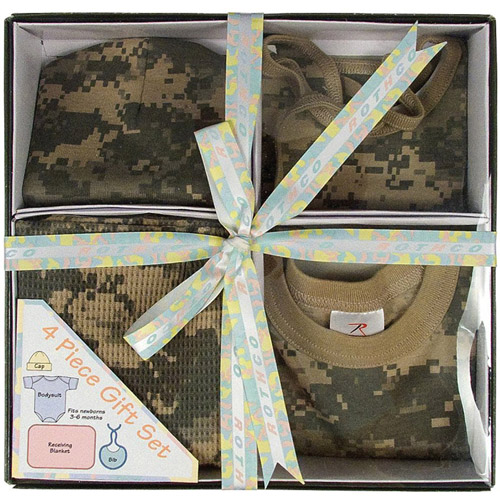 Infant 4 Piece Camo Boxed Gift Set