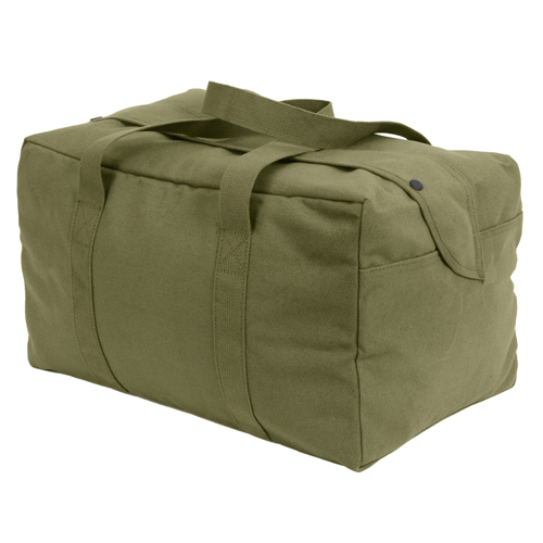Canvas Small Parachute Black Cargo Bag