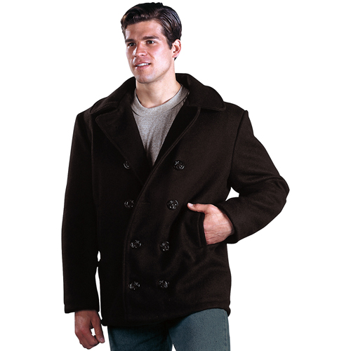 Mens U.S. Navy Type Wool Peacoat