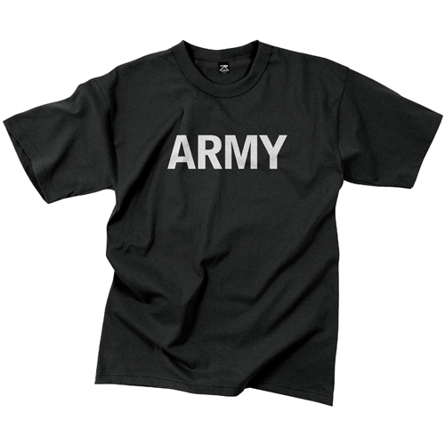 Mens Army Reflective Grey PT T-Shirt
