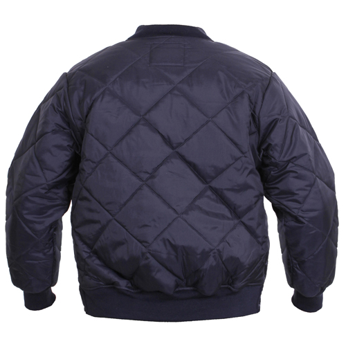 Mens Diamond Nylon Quilted Flight Jacket