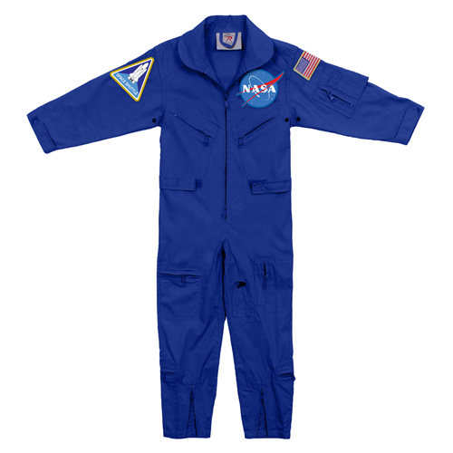 Kids NASA Flight Coveralls with NASA Patch