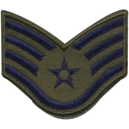 Subdued Air Force Staff Sergeant Patch