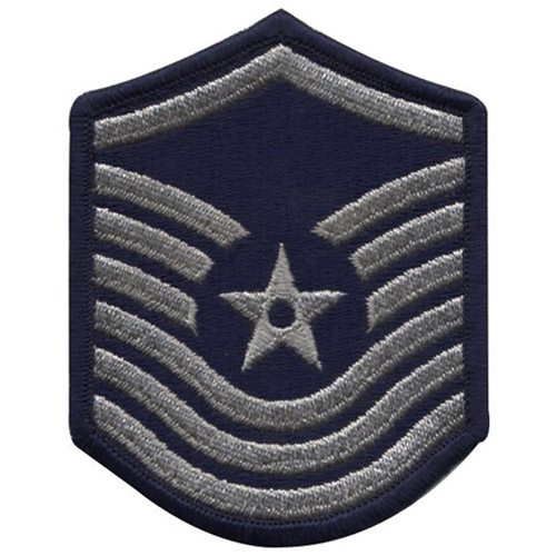 USAF Senior Master Sergeant 1986-1992 Small Silver Patch