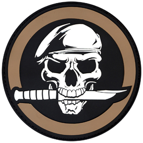 PVC Military Skull And Knife Morale Patch