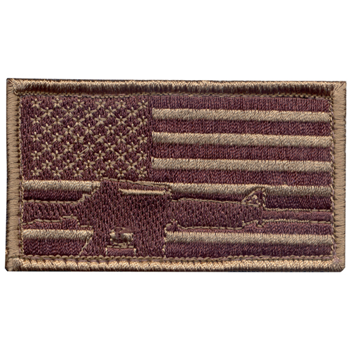 Subdued Flag & Rifle Morale Patch
