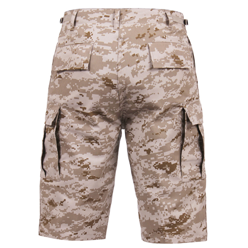 Mens Long Length Camo BDU Short