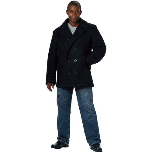 Mens US Navy Type Pea Coat