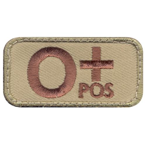 O Positive Blood Type Morale Patch