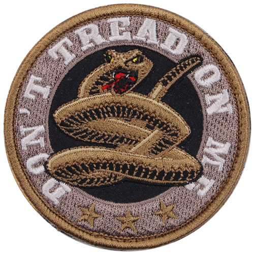 Round Dont Tread On Me Morale Patch