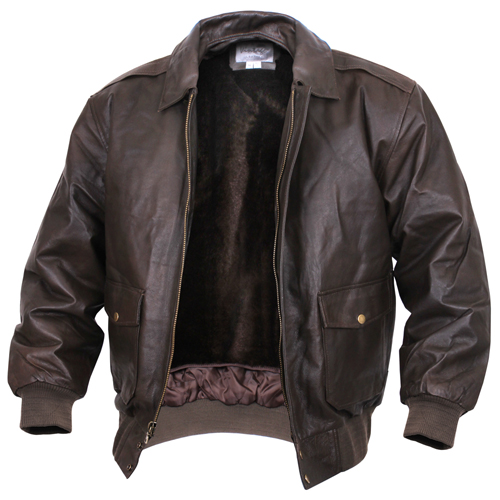 Mens Classic A-2 Leather Flight Jacket