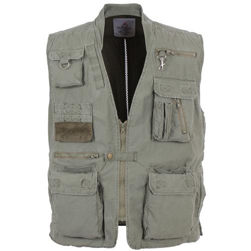 Mens Deluxe Safari Outback Vest