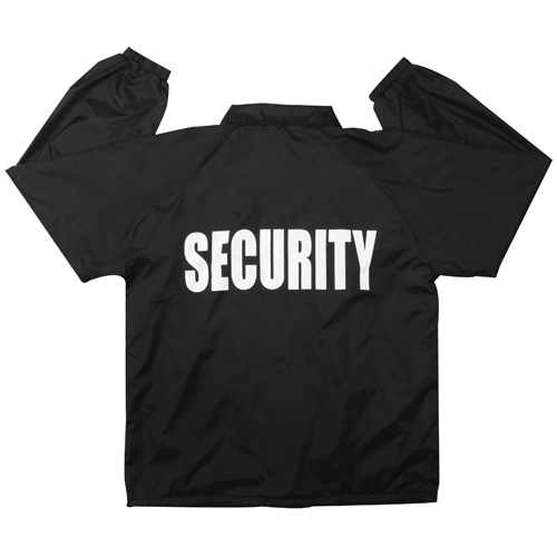Mens Lined Coaches Security Jacket