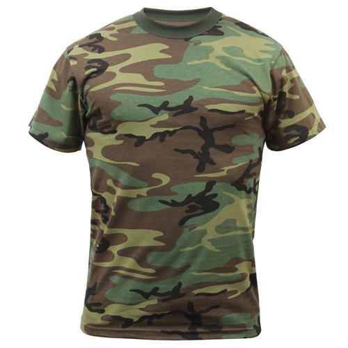 Childrens Woodland Camo Heavyweight T-Shirt
