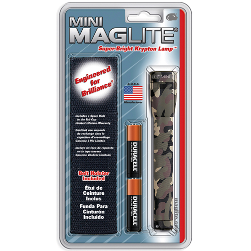 Mini Maglite AA Holster Flashlight Combo Pack