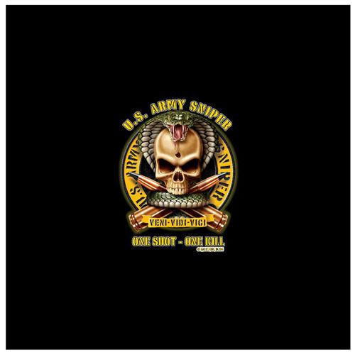 Mens Black Ink U.S. Army Sniper T-Shirt