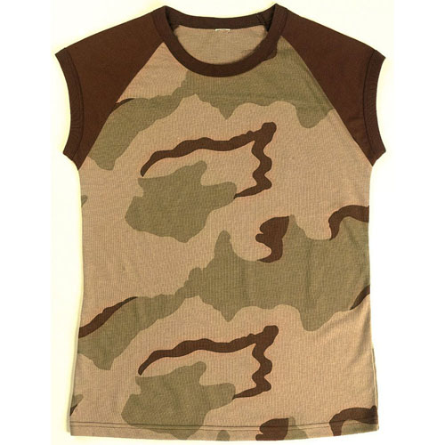 Womens Short Sleeve Camo Raglan T-Shirt