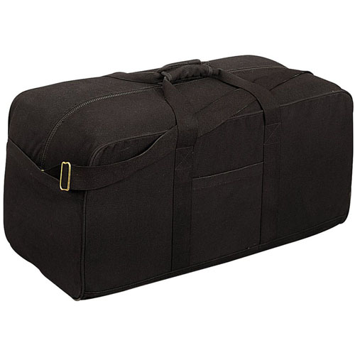 Canvas Black Assault Cargo Bag