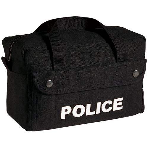 Canvas Small Black Police Logo Gear Bag