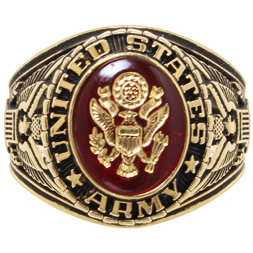 Deluxe Army Brass Engraved Ring