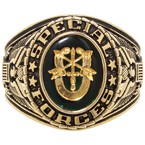 Deluxe Special Forces Brass Engraved Ring