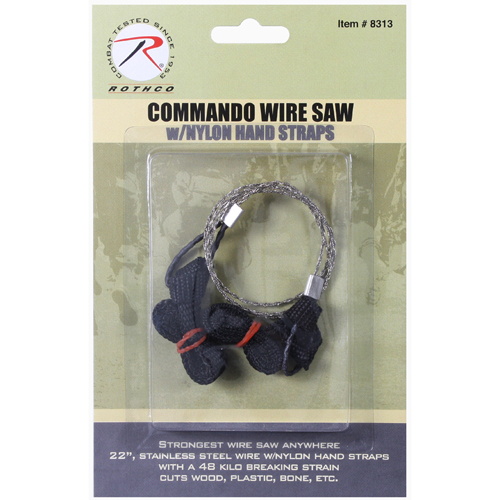 Commando Wire Saw with Nylon Hand Straps