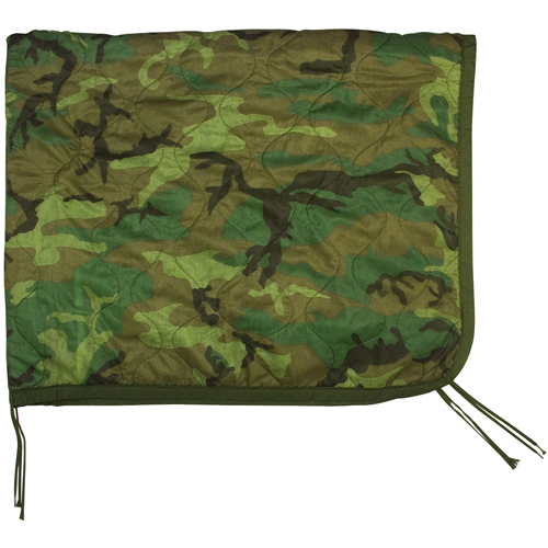 G.I. Issue Woodland Camo Poncho Liner