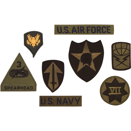 Subdued Military 100 Pieces Assorted Military Patches