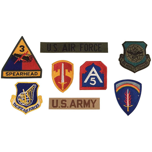 G.I. Military Assorted 500 Pieces Military Patchesa
