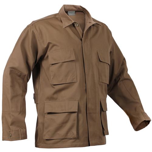 Mens Polycotton Twill Solid BDU Shirt