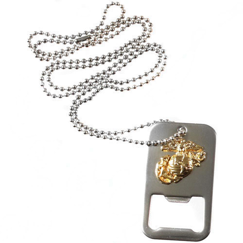 U.S.M.C. G And A Dog Tag Bottle Opener