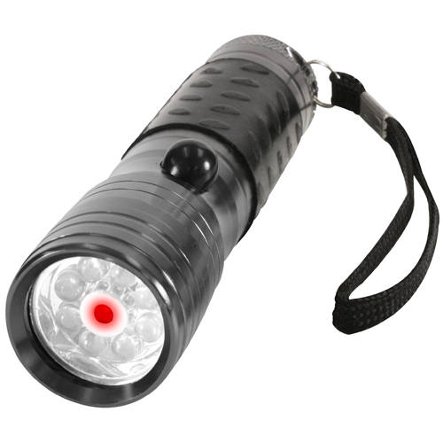 LED Flashlight with Red Laser Pointer