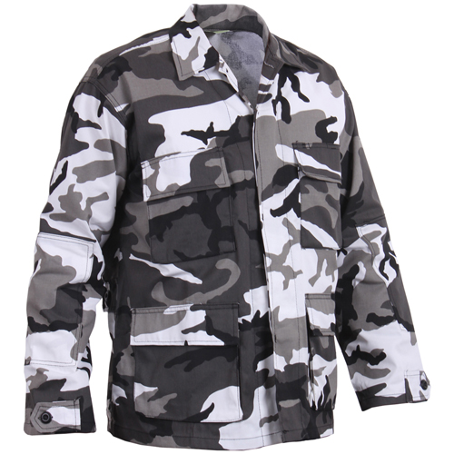 Mens Color Camo BDU Shirt