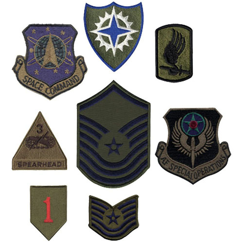 Subdued Military 500 Pieces Assorted Military Patches