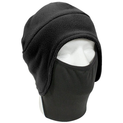 Convertible Fleece Cap with Poly Facemask