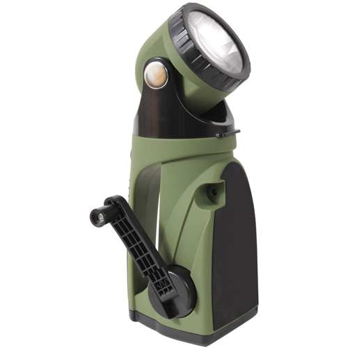 9 LED Hand Crank Swivelhead Flashlight