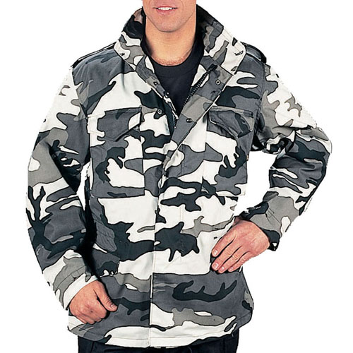 Mens M-65 Camo Field Jacket