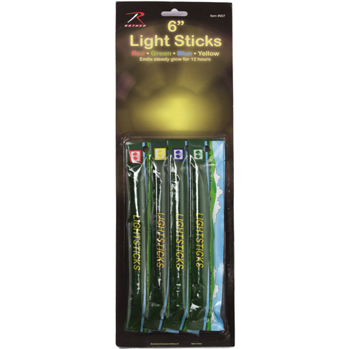4-Pack 6 Inch Chemicals Lightsticks