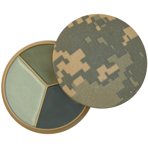 Digital Camo 3 Color Face Paint Compact