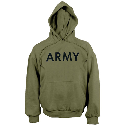 Mens Army PT Pullover Hooded Sweatshirt