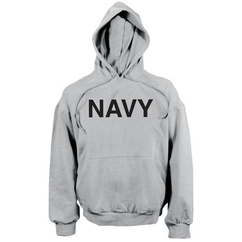 Mens Navy Pullover Hooded Sweatshirt