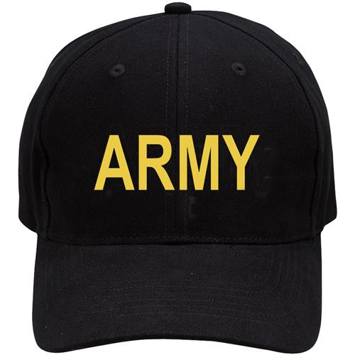 Black Army Low Profile Cap