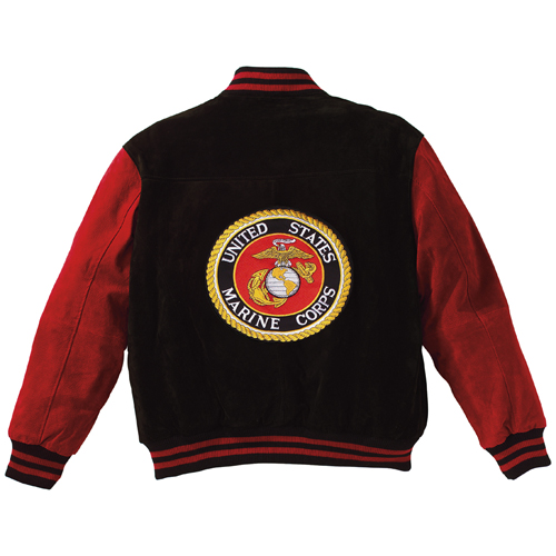 Mens MA-1 Suede Red Marines Flight Jacket