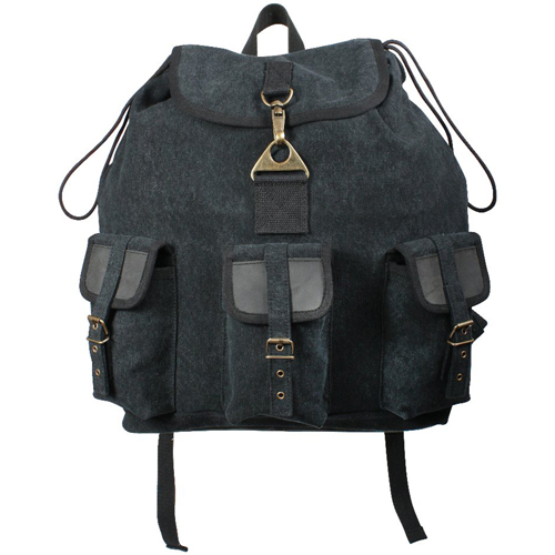 Vintage Canvas Wayfarer Backpack with Leather Accents