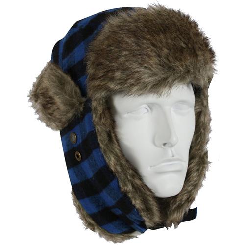 Plaid Fur Flyers Hat