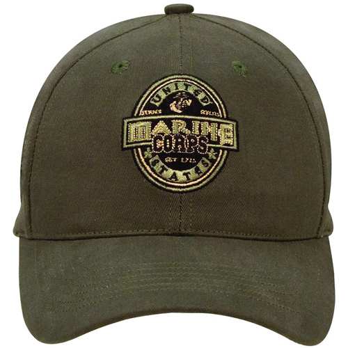 Black Ink USMC Low Profile Cap