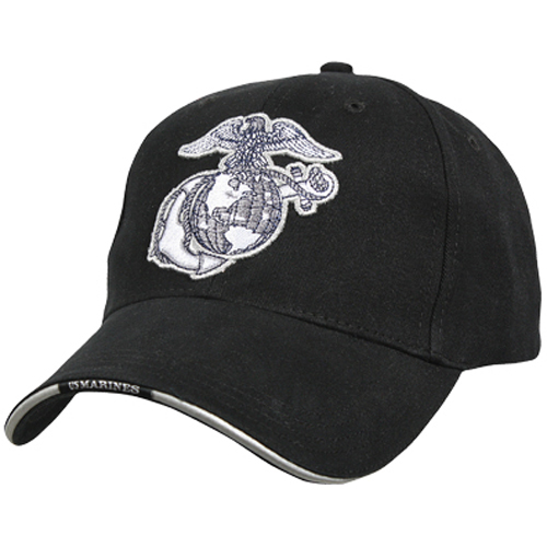 Deluxe U.S.M.C. G And A Low Profile Insignia Cap with Marines Backstrap