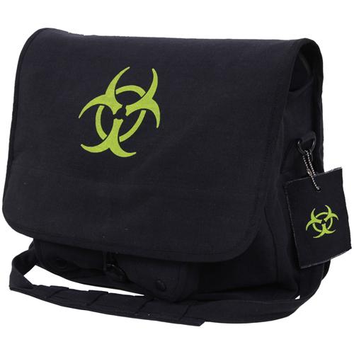 Bio-Hazard Vintage Canvas Messenger Bag